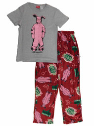 A Christmas Story Mens Pink Bunny Ralphie T-Shirt & Pajama Bottoms Sleep Set