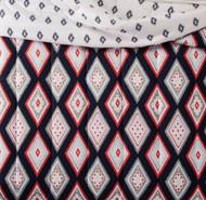 Aztec Twin XL Navy Blue & Coral Geometric Reversible Comforter Dorm Bed