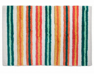 Colorful Fiesta Striped Cotton Accent Accent Throw Area Rug 30x48