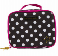 American Girl Insulated School Lunch Box Tote Polka Dot Lunchbox