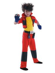 Bakugan Battle Brawlers Boys Dan Child Costume Halloween Jumpsuit & Gloves