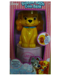 Disney Lady & The Tramp Bubble Bath Coin Bank Strawberry Scented