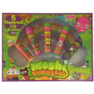 Moshi Monsters Flavored Lip Balm Rasberry, Juice, Strawberry, Ice Cream 5 Pack