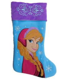 Blue & Purple Disney Frozen Princess Anna Christmas Stocking Holiday Decor