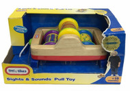 Little Tikes Sights & Sounds Wooden Pull Toy - Bright Patterns & Rattling Sounds