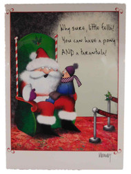 Child & Bad Mall Santa Claus Spider Christmas Cards You Get A Pony & A Tarantula