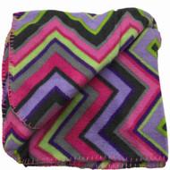 Basic Soft Fleece Throw Blanket with Purple & Pink Stripes - 50x60