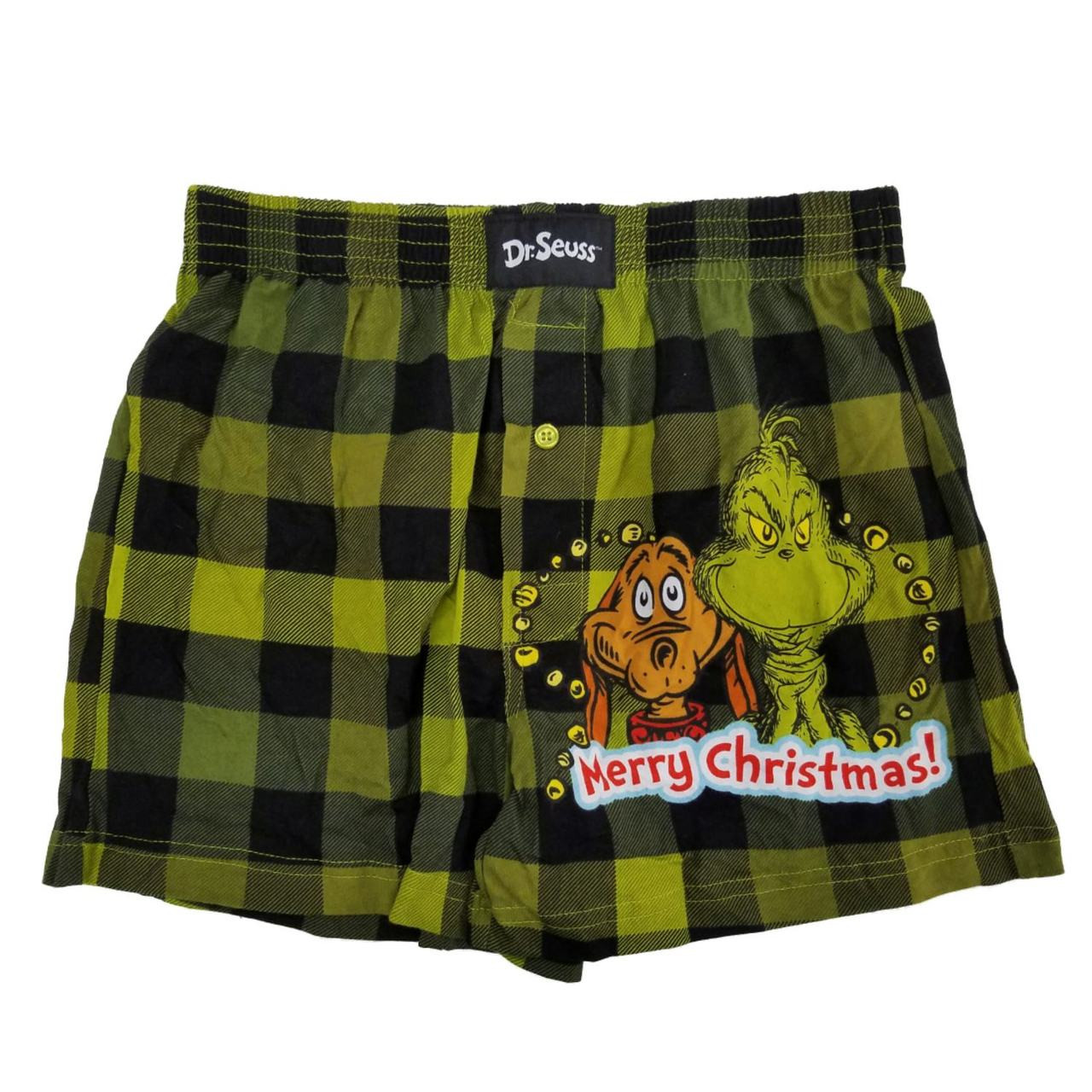 Dr Christmas Mens Boxer Brief Size S NEW Always Naughty The Grinch Seuss