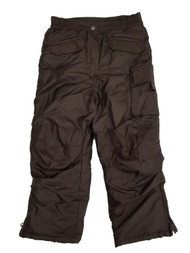Girls Brown Water/Wind Resistant Insulated Cargo Snow Pants