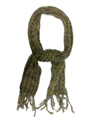 Fownes Brown & Yellow Womens Cable Knit Winter Neck Scarf
