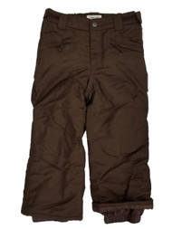 Girls Brown Water Resistant Insulated Snowboard Snow Pants