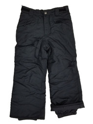 Girls Black Water Resistant Insulated Snowboard Snow Pants