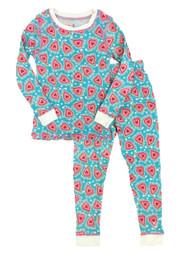 Cuddl Duds Toddler Girls Heart Thermal Underwear Long Johns Base Layer Set