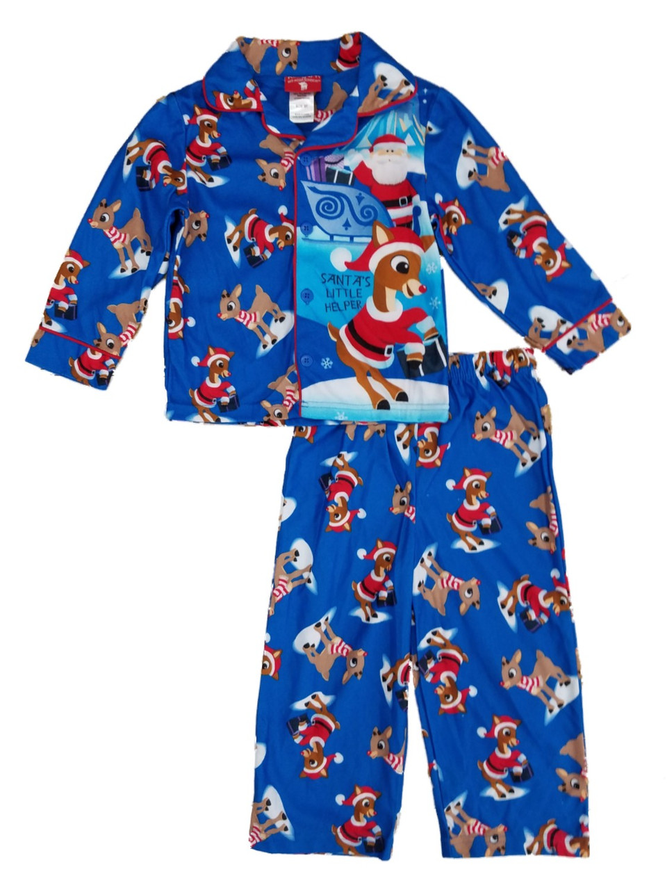 Rudolph the Red-Nosed Reindeer Baby Girls 2-Piece Pajama Coat Set