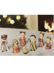 Children's 7 Piece Nativity Set Resin Mary Joseph Baby Jesus Christmas Decor