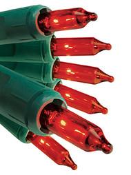 GE 105 Mini Lights Red Christmas Lights Holiday Patio Garden String Light Set