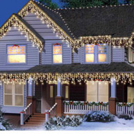 300 Clear High Density Icicle Lights White String Light Set Wedding & Holiday