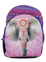 Accessories 22 Pink & Purple Elephant Backpack School Travel Back Pack