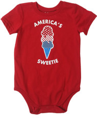 Infant Boys & Girls Americas Sweetie Single Outfit Fourth Of July Baby Bodysuit