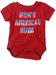 Infant Toddler Moms American Hunk Single Outfit Fourth Of July Baby Bodysuit