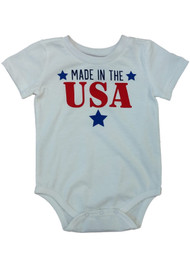 Infant Boys & Girls Made In The USA Single Outfit Fourth Of July Baby Bodysuit