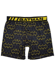 Batman DC Comics Mens Black & Yellow Bat Symbol Boxer Briefs Boxers