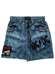 AC/DC Mens Denim Jeans Print Knit Boxers Boxer Shorts