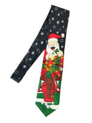 Men's Black Christmas Golf Santa Neck Tie Holiday Necktie