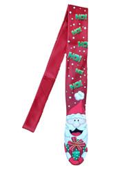 Men's Red Christmas Santa HoHoHo Present Neck Tie Holiday Necktie