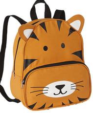 """Basic Jungle Tiger 13"""" Backpack Lightweight Canvas Critter Preschool Pack"""