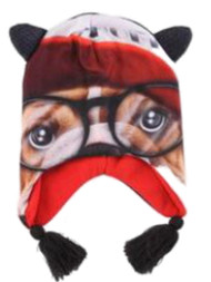Boys Dog With Glasses Trapper Hat