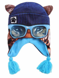 Boys Tiger With Glasses Trapper Hat