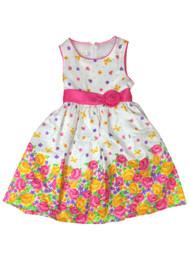 American Princess Girls Green Dot Floral Butterfly Party Dress Flower Girl