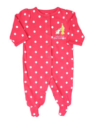 Carters Baby Girls Red Baby's First Christmas Tree Sleeper Holiday Pajamas