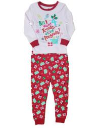 Baby Girl Red Pink All I Want For Christmas Pant Set Sleeper Holiday Pajamas