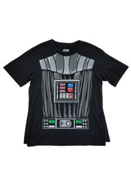 Darth Vader Star Wars Mens Black Caped Tee Costume T-Shirt
