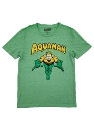 Justice League DC Comics Mens Heather Green Aquaman T-Shirt