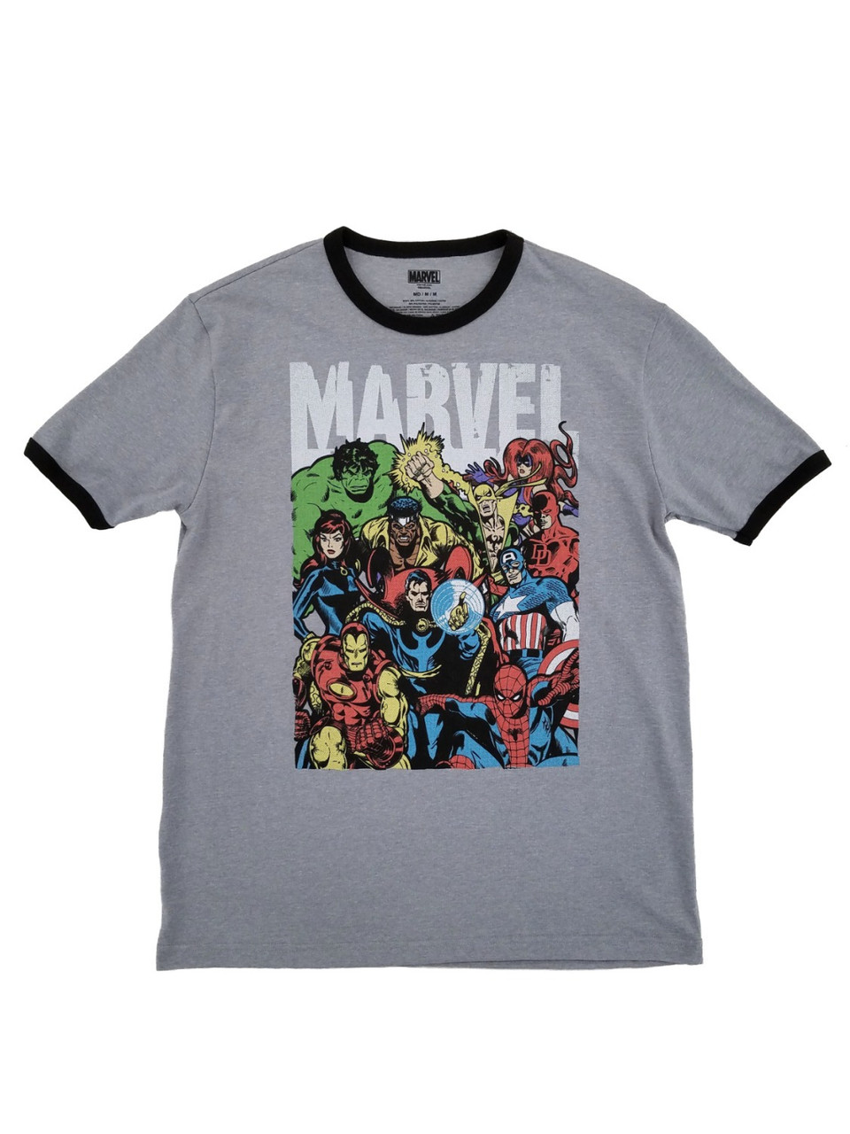 NWT Marvel Comics AVENGERS Red Characters Graphic T-Shirt Men/'s Size Large