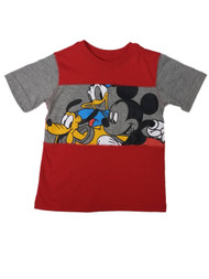 Disney Infant & Toddler Boys Red Mickey Mouse & Donald Duck T-Shirt Shirt