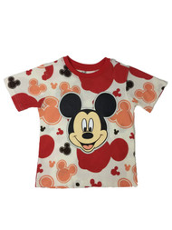 Disney Infant & Toddler Boys Colorful Mickey Mouse Smiley Face T-Shirt Shirt