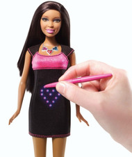 Mattel Barbie Digital Dress African American Doll Light Up Graphics