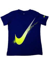 Nike Boys Blue & Yellow Swoosh Athletic T-Shirt Tee Shirt 6
