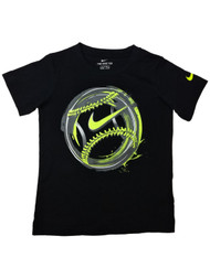 Nike Boys Black Baseball Athletic T-Shirt Tee Shirt 4
