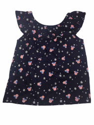 Infant & Toddler Girls Navy Blue Minnie Mouse Patriotic Sleeveless Shirt