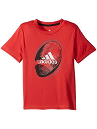 Adidas Climate Boys Red Football Athletic T-Shirt Tee Shirt 4