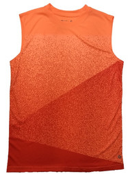 Boys Orange Speckle Silky Athletic Tank Top T-Shirt Muscle Tee Shirt