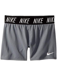Nike Dry Girls Gray & Black Dri-fit  Athletic Spandex Shorts Small
