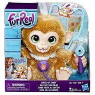 FurReal Check-up Zandi Interactive Plush Fur Real Pet Monkey