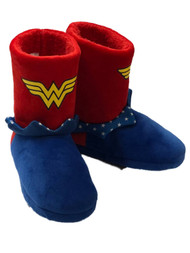 DC Comics Girls Boot Style Wonder Woman Slippers Super Hero House Shoes