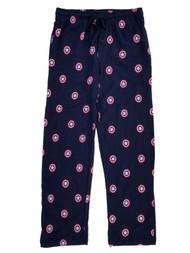 Captain America Marvel Mens Navy Blue Knit Sleep Pants Pajama Bottoms